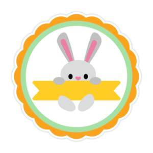 circle easter label
