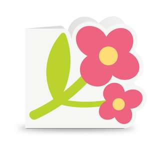 shaped card flower