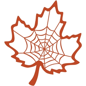 spider web maple leaf