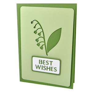 lily-of-the-valley best wishes stencil card