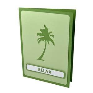 palm tree relax stencil card