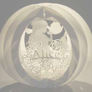 three layered pop up sphere alice