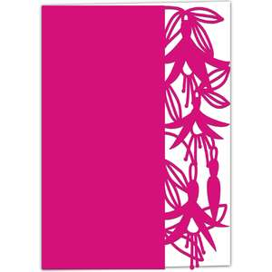fuchsia lace edged card