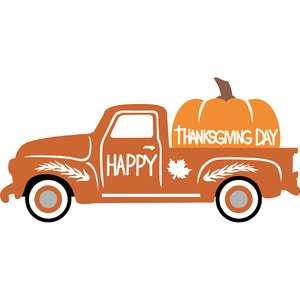 thanksgiving day truck