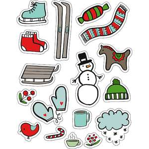 ml winter snow things stickers
