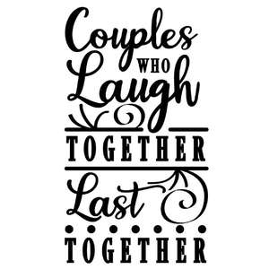 couples laugh together last