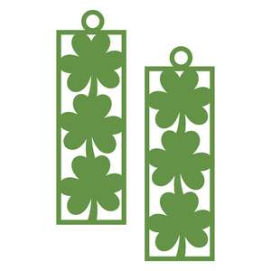 three leaf shamrock earrings