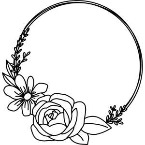 rose and daisy wreath