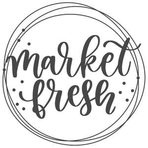 market fresh messy circle