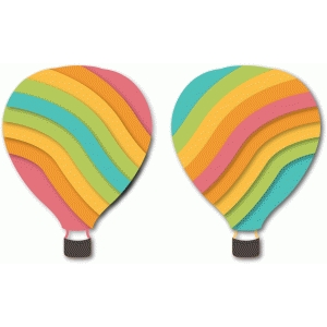 'rainbow' hot air balloon