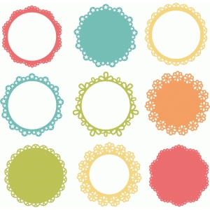 background shapes set of 9