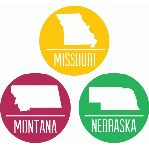 state badges - mo mt ne