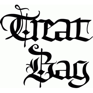 treat bag - calligraphy