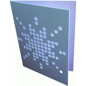 snowflake dot card