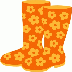 flower rubber boots