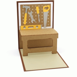work bench pop up card