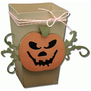 3d scary pumpkin popcorn box