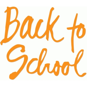 back to school calligraphic title