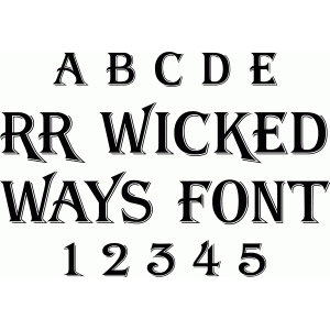 rr wicked ways font