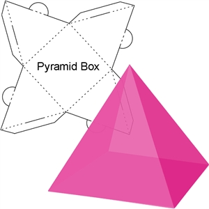 4 sided pyramid box