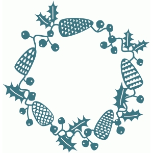 winter woodland papercut garland
