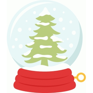 winter tree snow globe