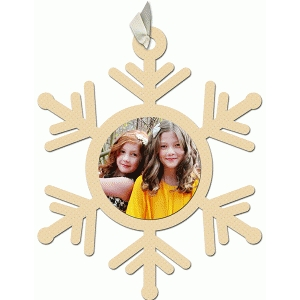 snowflake sweet photo ornament