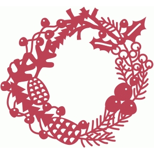 winter nature festive wreath