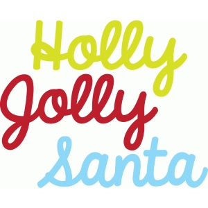 holly jolly words
