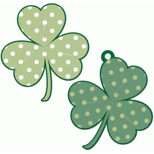 polka dot nested clover tag/label