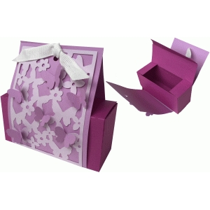 butterfly favor box carrier