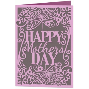 mother's day floral lace card