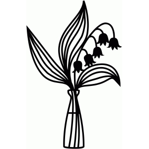 lily of the valley papercut shape