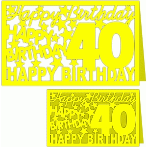 happy birthday 40 years card
