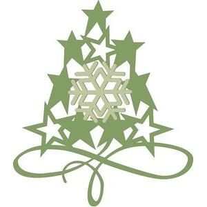 flourished snowflake star tree