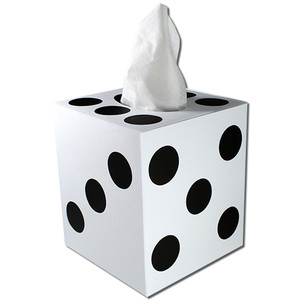 dice (die) tissue box