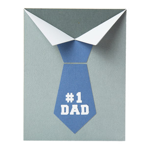 #1 dad folded card