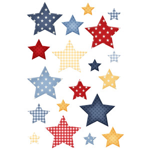 4th of july star stickers