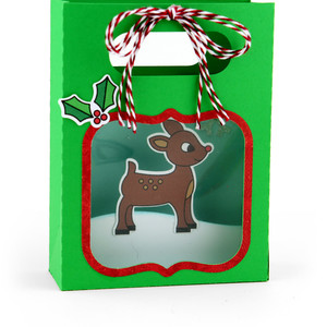 shadowbox gift card bag rudolph