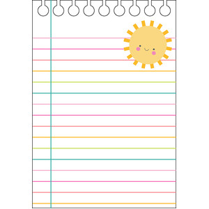 sun notepad - spring things