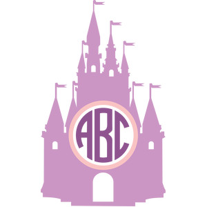 princess castle monogram frame