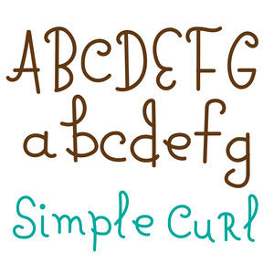 simple curl font