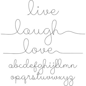 live, laugh, love sketch font