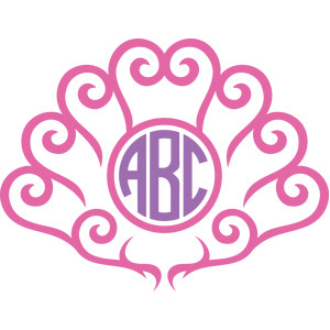 arabesque seashell monogram