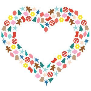 christmas icons heart