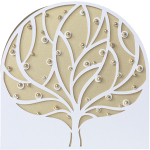 winter tree card