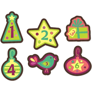 advent calendar ornament set 1-6