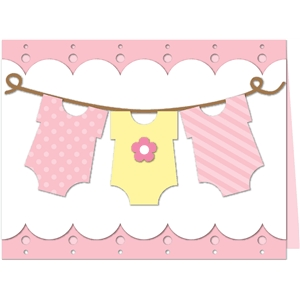 baby girl onesie laundry card kit