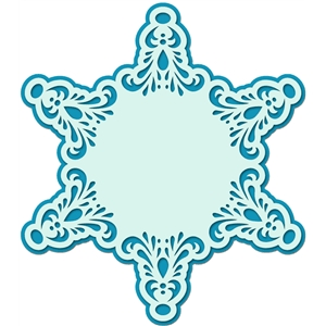 background lace snowflake