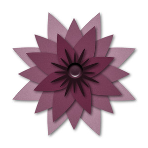 layered pointy flower